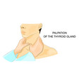 palpation of the thyroid gland vector image