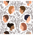 peoples talk seamless pattern togetherness vector image
