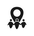 place commitment teamwork together black logo vector image vector image