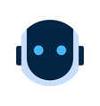 robot face icon silent shocked face emotion vector image