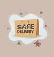 safe meals delivery food vector image