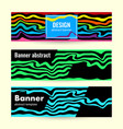 set horizontal bright summer banners with blue vector image vector image