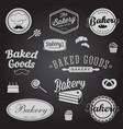 set vintage bakery badges labels logo vector image vector image