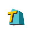 sign of the letter t vector image