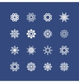 snowflakes set for Christmas design christmas vector image