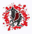soccer player action vector image
