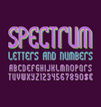 spectrum colored letters and numbers with vector image vector image