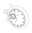 stopwatch or timer sketch vector image vector image