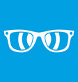 sunglasses icon white vector image vector image