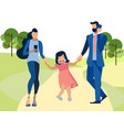 the child suffers from indifferent parents in vector image vector image