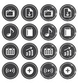 Website navigation icons on retro labels set vector image vector image