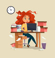 woman in office stress vector image