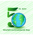 world environment day sign on colorful background