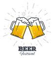 beer festival icon vector image