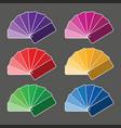 set of six color palette vector image