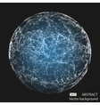Abstract mesh spheres Futuristic atom vector image vector image