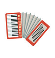 accordion part of musical instruments set of vector image vector image