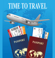 air travel international vacation concept vector image vector image