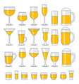 Alcohol glasses set vector image vector image
