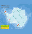 antarctica physical map elements build your own vector image