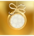 Beautiful golden christmas ball EPS8 vector image vector image