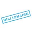 Billionaire Rubber Stamp vector image vector image