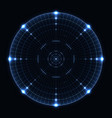blue target screen vector image