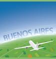 buenos aires flight destination vector image vector image