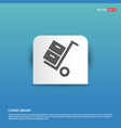 cart icon - blue sticker button vector image