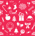 christmas endless pattern with simple icons vector image