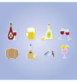 color set with alcohol icons vector image vector image