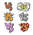 colorful cartoon vs labels vector image vector image