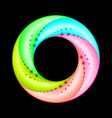 colorful spiral ring with dot accent on black vector image vector image