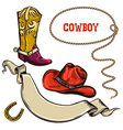 Cowboy american objects vector image vector image