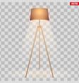 decorative floor lamp tripod vector image vector image