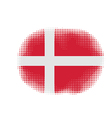 denmark flag halftone vector image vector image