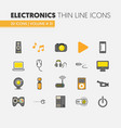 electronics technology thin line icons set vector image vector image