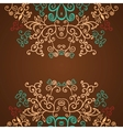 Excellent brown floral pattern design background vector image