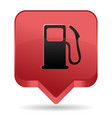 gas pump red icon vector image vector image