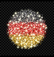 germany flag sparkling badge vector image vector image