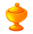 gold cup icon cartoon style vector image vector image