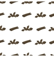 Hand drawn seamless pattern with cinnamon vector image