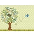 Happy Easter bird - greeting card vector image