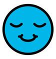 happy face emoticon character vector image