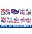 happy fourth july greeting card poster and ban vector image vector image