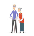 happy senior couple - cartoon people characters vector image vector image
