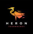 heron technology geometric polygonal logo icon vector image vector image