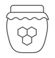 honey thin line icon food and sweet honey jar vector image