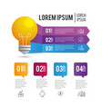 infographic business report plan with lorem ipsum vector image