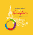 international day of francophonie vector image vector image
